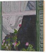 The Curtain Wood Print