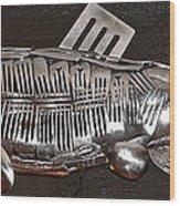 The Cutlery Fish Wood Print