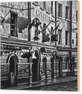 The Czech Inn - Dublin Ireland In Black And White Wood Print
