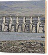 The Dalles Dam Along Columbia River Wood Print