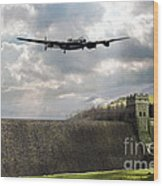 The Dambusters Over The Derwent Wood Print