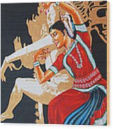 The Dance Divine Of Odissi Wood Print