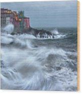 The Dance Of The Sea Wood Print