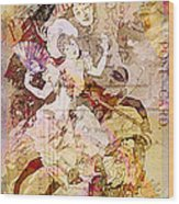 The Dancer And The Pierrot Wood Print