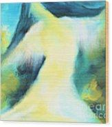 The Dancer Wood Print by Hilda Lechuga