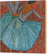 The Dancers Wood Print by John Giardina