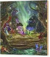 The Dancing Auroras Wood Print