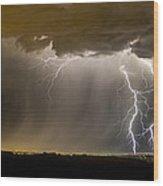 The Dancing Couple - Lightning 10 Wood Print