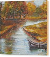 The Danube Delta  Wood Print