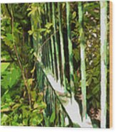The Dappled Railings  Wood Print