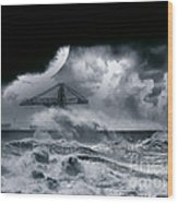 The Dark Storm Wood Print
