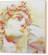 The David By Michelangelo. Tribute Wood Print