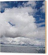 Cloudscape Over Lake Titicaca Peru Wood Print