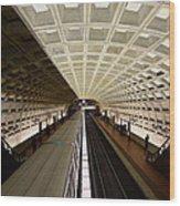 The D.c. Metro Wood Print