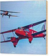 The De Havilland Dh90 Dragonfly Wood Print