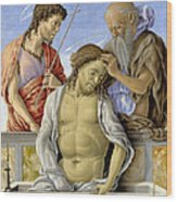 The Dead Christ Supported By Saints Wood Print