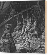 The Dead Sailors Rise Up And Start To Work The Ropes Of The Ship So That It Begins To Move Wood Print