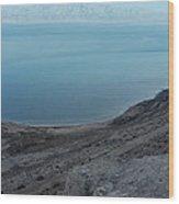 The Dead Sea - Looking At Jordan Wood Print