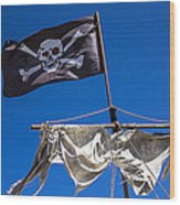 The Death Flag Wood Print by Garry Gay