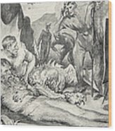 The Death Of Beowulf Wood Print