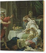 The Death Of Cleopatra, 1755 Oil On Canvas Wood Print