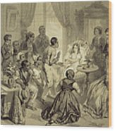 The Death Of Evangeline, Plate 6 Wood Print