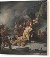 The Death Of General Montgomery In The Attack On Quebec, December 31, 1775, 1786 Oil On Canvas Wood Print