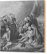 The Death Of General Wolfe, 1759, From The History Of The United States, Vol. I, By Charles Mackay Wood Print