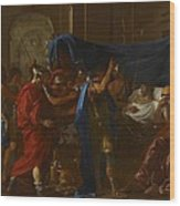 The Death Of Germanicus Wood Print by Nicolas Poussin