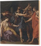 The Death Of Lucretia Wood Print