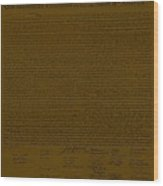 The Declaration Of Independence In Brown Wood Print