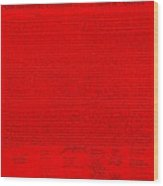 The Declaration Of Independence In Red Wood Print