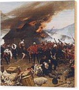 The Defence Of Rorke's Drift 1879 Wood Print