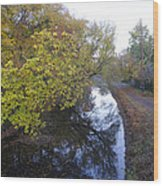 The Delaware Canal In Morrisville Pa Wood Print