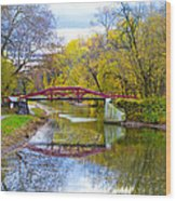 The Delaware Canal Near New Hope Pa In Autumn Wood Print