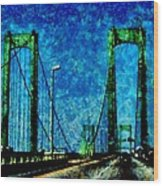 The Delaware Memorial Bridge Wood Print