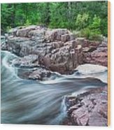 The Dells Of The Eau Claire River  Wood Print