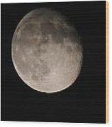 The Descending Moon Wood Print