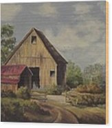 The Deserted Barn Wood Print