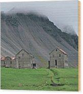 The Deserted Farm Horn In Iceland Wood Print