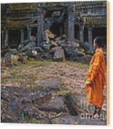 The Destruction Of Ta Prohm Wood Print by Pete Reynolds