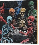 The Devil And Friends Wood Print