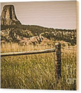 The Devils Tower Wood Print