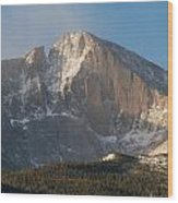 The Diamond Face Of Longs Peak Wood Print