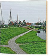 The Dike In Enkhuizen-netherlands Wood Print