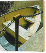 The Dinghy Image C Wood Print