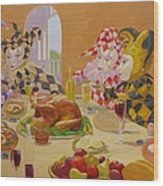 The Dinner Party Wood Print