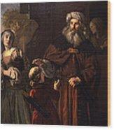 The Dismissal Of Hagar, 1650 Wood Print