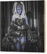 The Diva Blue Wood Print