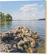 The Dnieper River In Kiev Wood Print